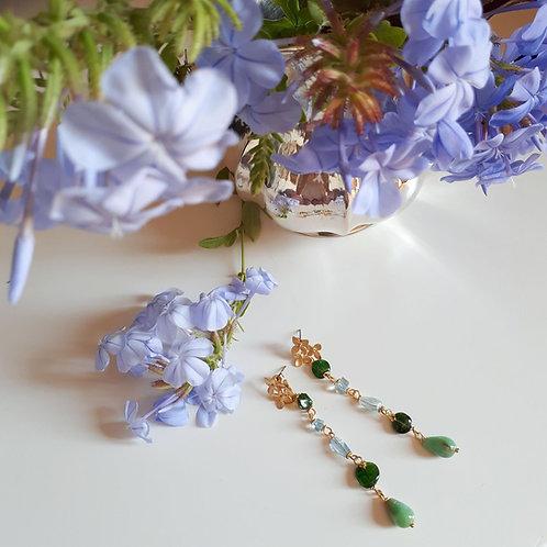Orecchini verdi e azzurri