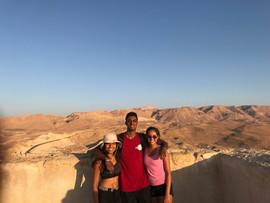 Rosie, Nyan, and Serena at Masada