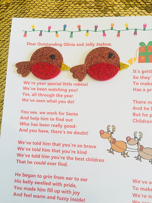 Robin's Special Message- for two children