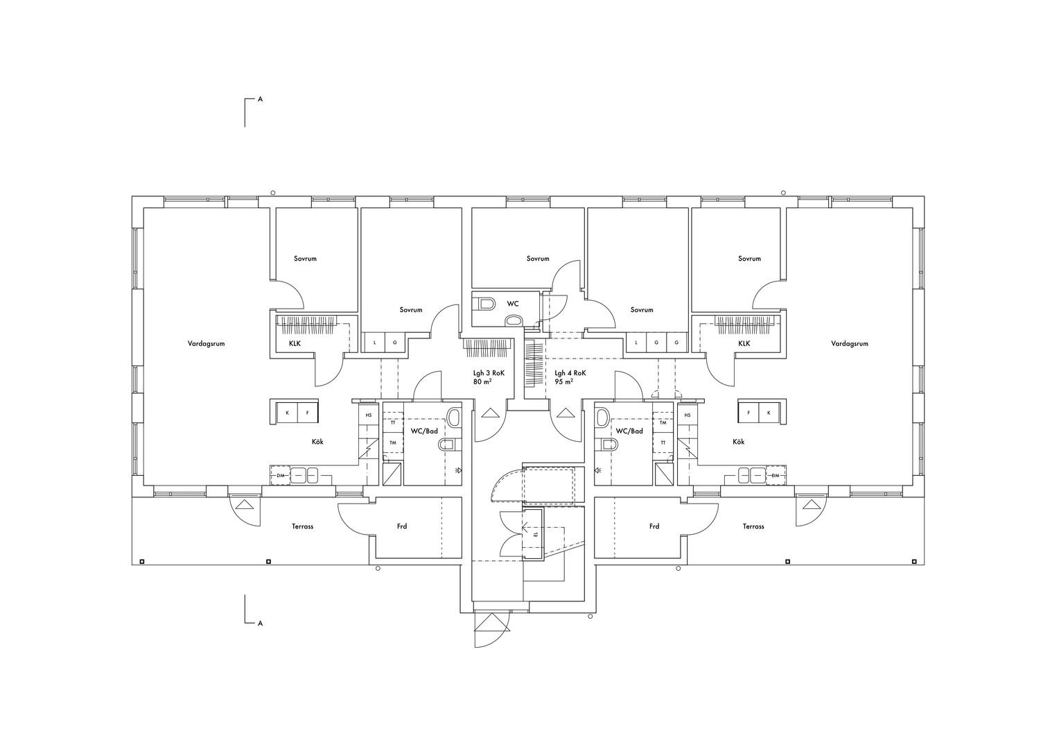 Trädgårdshusen, plan