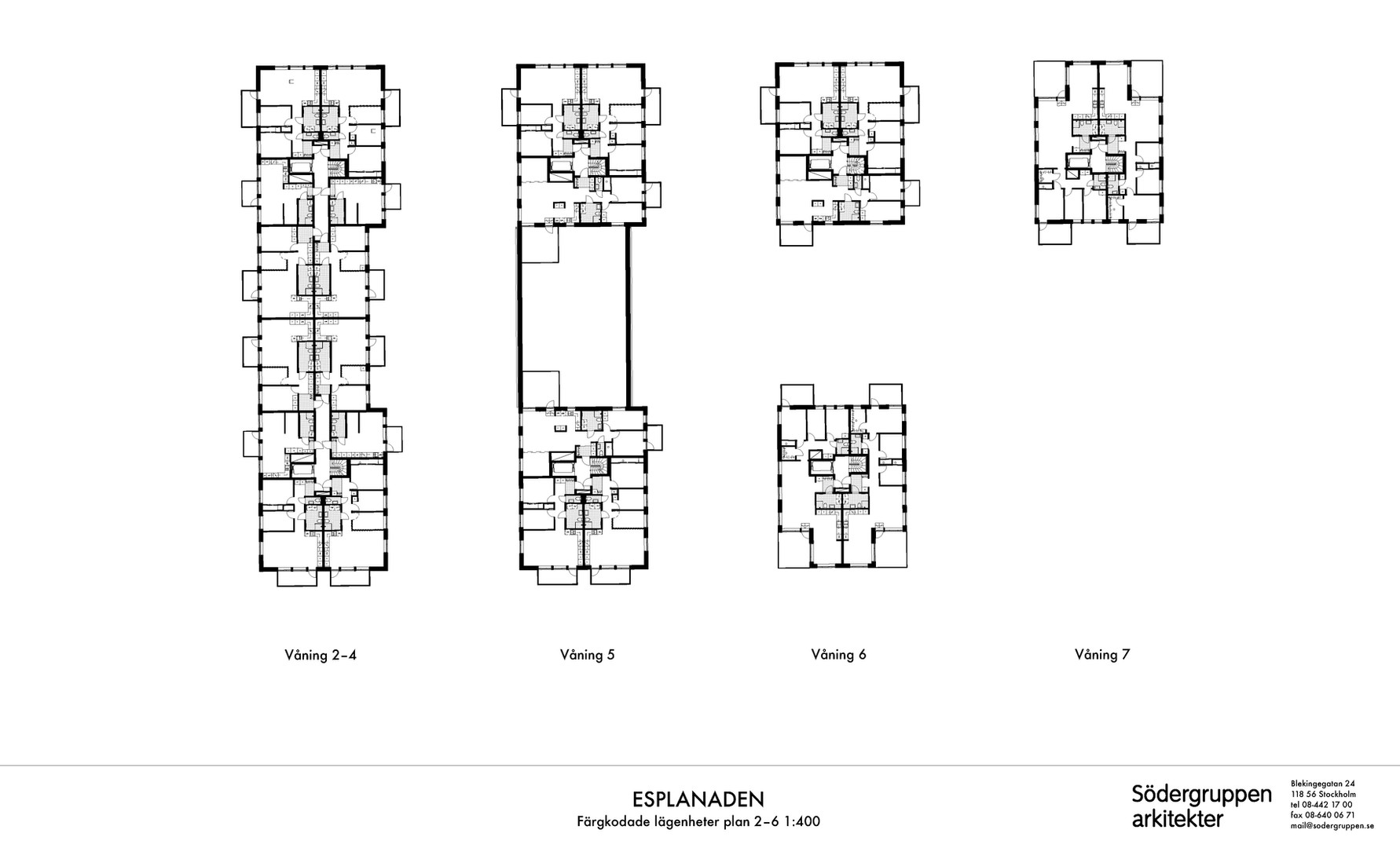 Plan våning 1-7