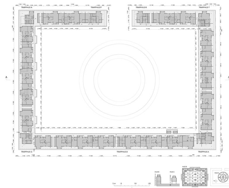 Planritning på påbyggd våning