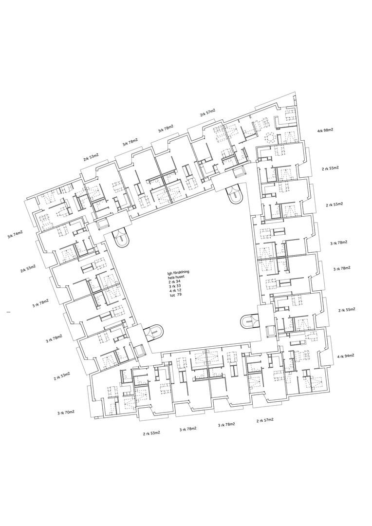 Plan flerbostadshus