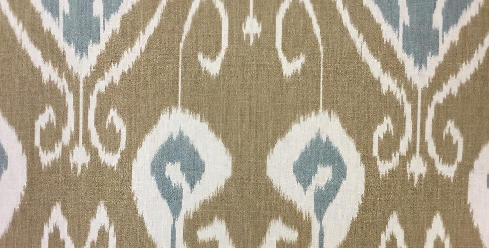 Blue/Brown Ikat - Tribal