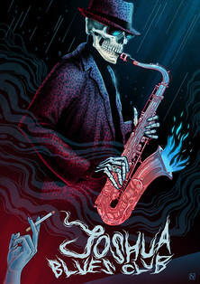 JOSHUA BLUES CLUB POSTER ART