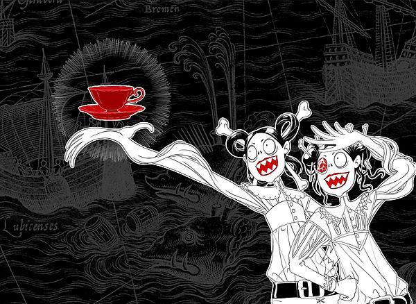 Crazy pirates, mythological monsters, tea