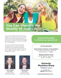 Seton Women's Health flier
