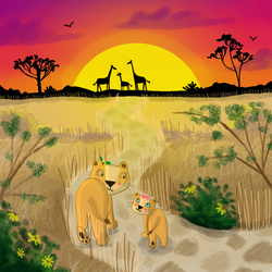 Sample illustration from 'The Lion Who L