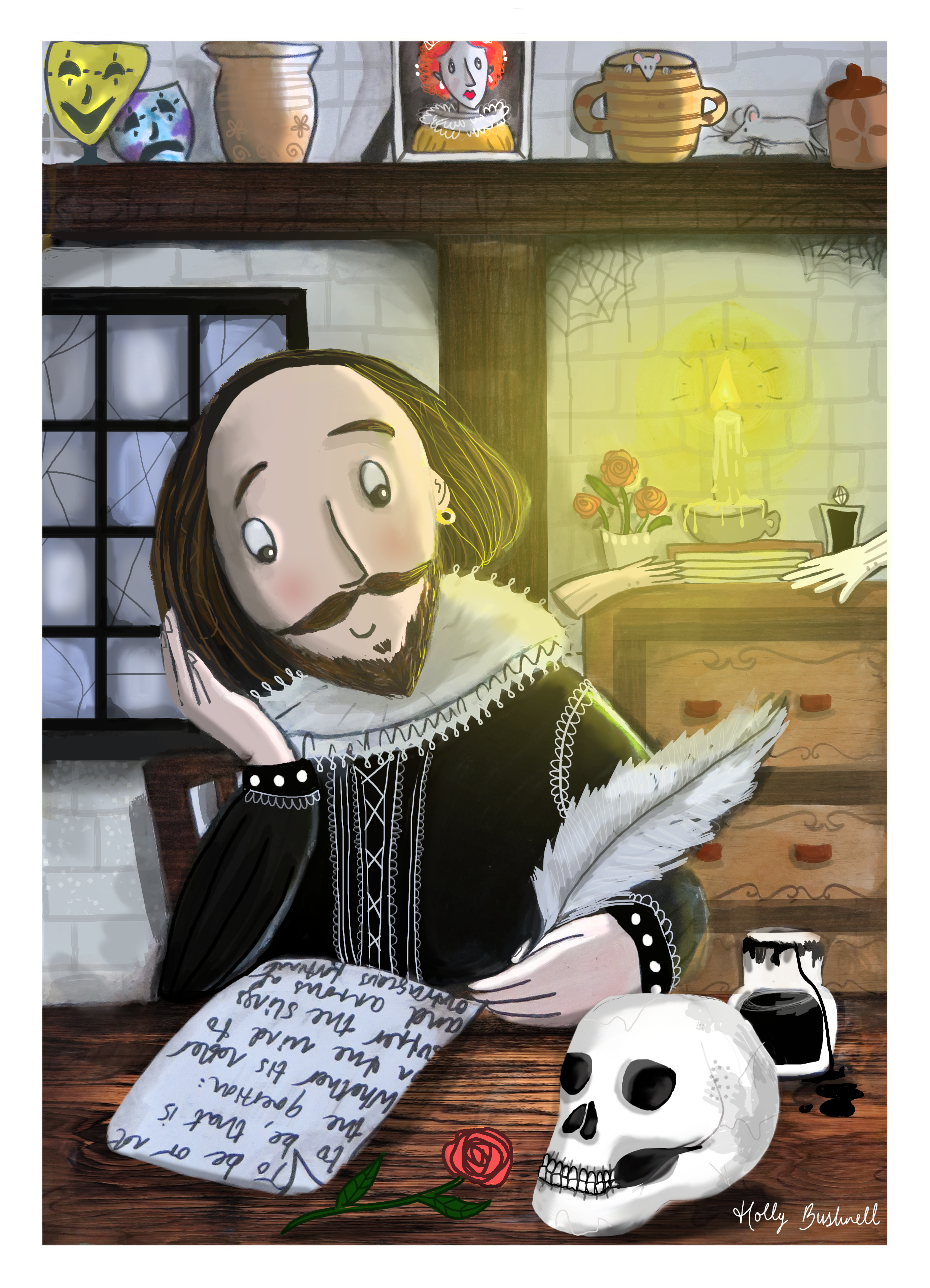 The Bard at Work