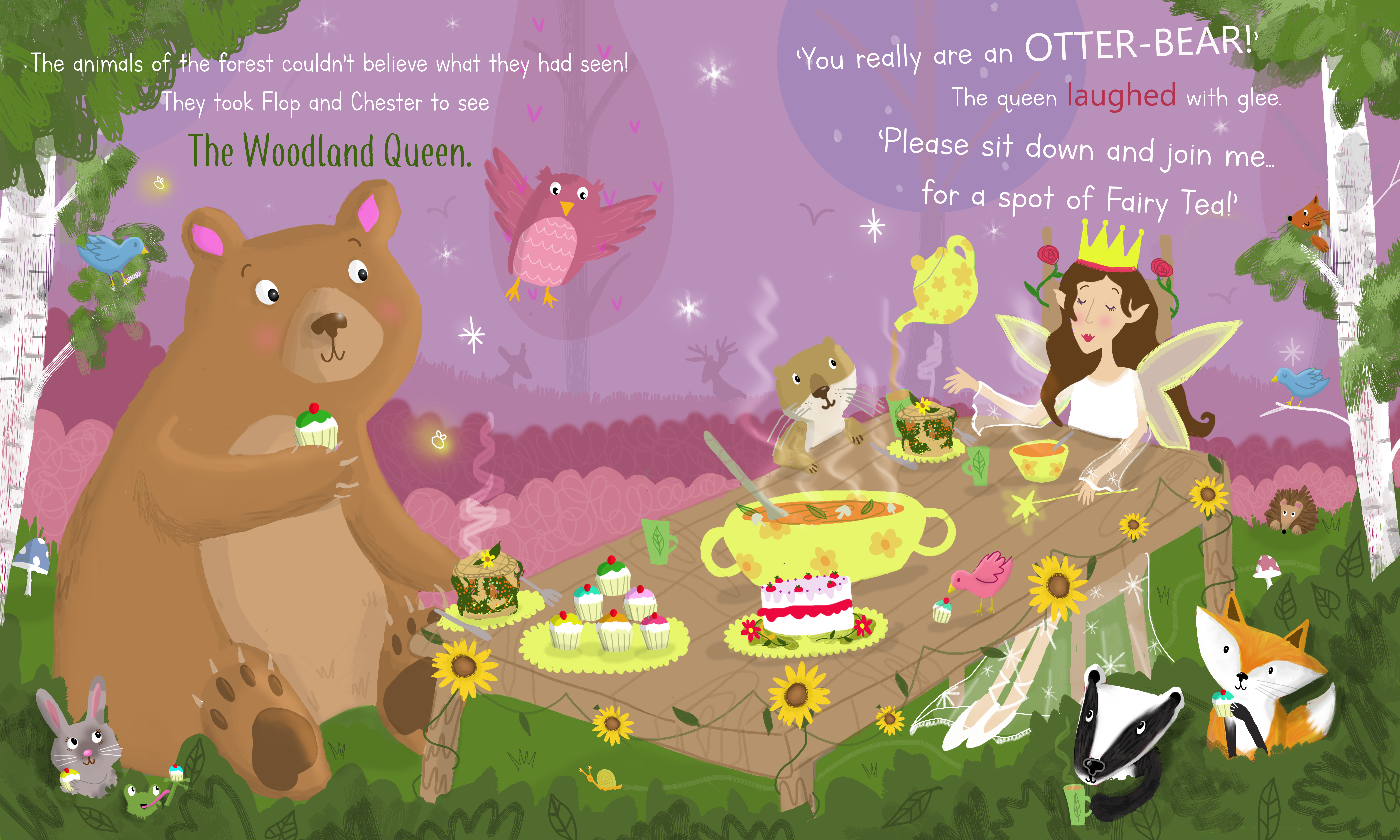 A Woodland Tea Party - Example Doublepag
