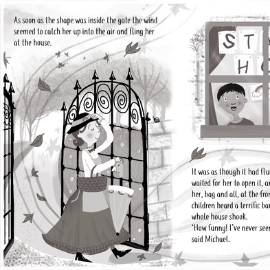 'Mary Poppins Arrives' Doublespread