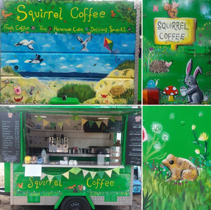 Squirrel Coffee Trailer