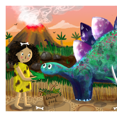 Stegosaurus and Cave Child