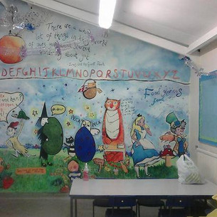 Dining Room food themed mural