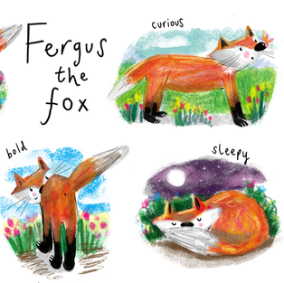 Fergus the Fox Character Design