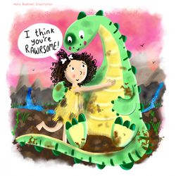 Fern the Cave Girl and Stinky the Dinosa