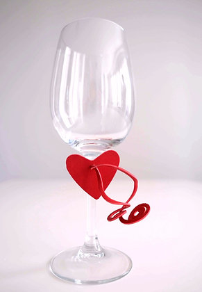 Heart Shape Napkin/Glass decoration (Pack of 6)
