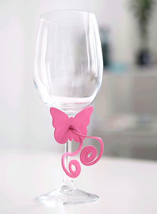 Butterfly Napkin/Glass decoration (pack of 6 mixed colours)