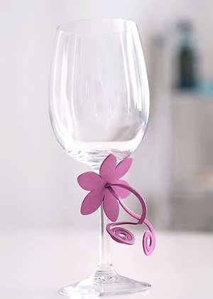 Flower  Napkin/Glass decoration (pack of 6 mixed colours)