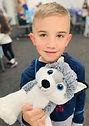 stuffed animal, wolf, kids