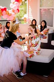 Girls birthday party, balloons, spa party, facial