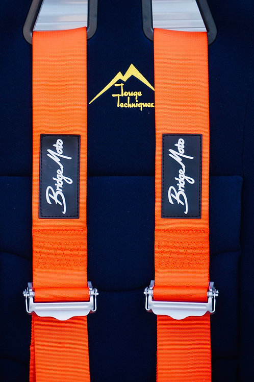 FiA 4 Point Orange Harness