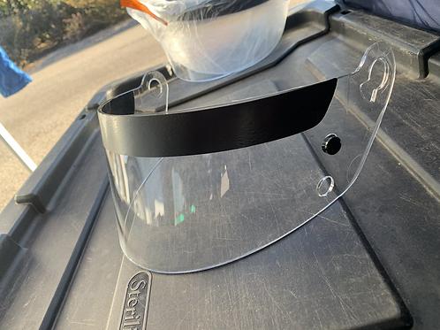 Clear helmet visor: 1 hole mount type