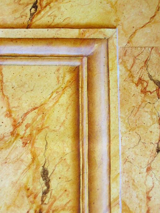 marbre jaune détail - acrylique