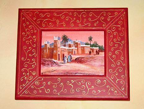 Cadre marocain rouge