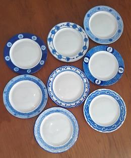 Assiettes bleu Ming