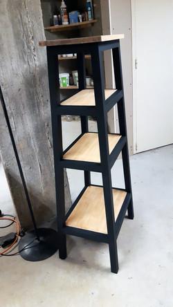 colonne noir & bois