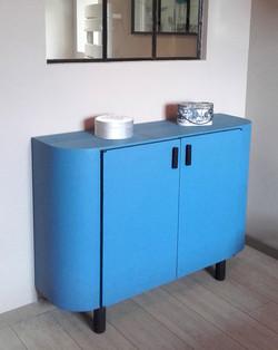 Meuble bleu vintage