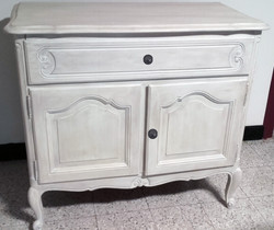 Commode patine taupe