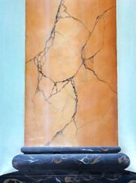 colonne marbre - glacis à l'huile