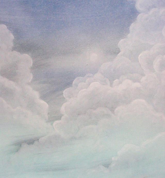 faux ciel - Patine à l'huile