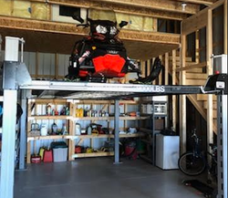 WF9000_With_Full_Aluminum_Decking_Storing_Snowmobile