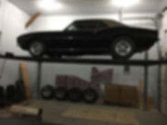 Custom Built Room for 4 Post Car Lift.jp