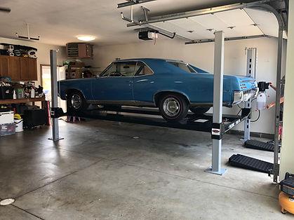 Pontiac GTO on Wildfire Lifts Four Post