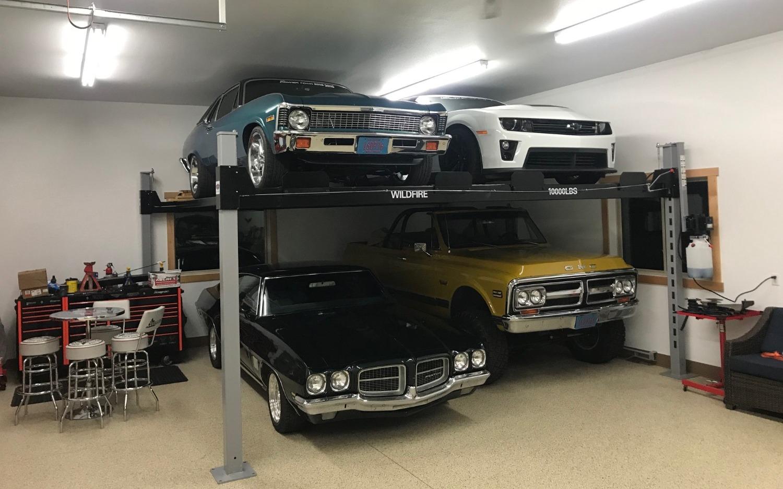 Double Wide Car Lift - 4 Car Car Lift_ed
