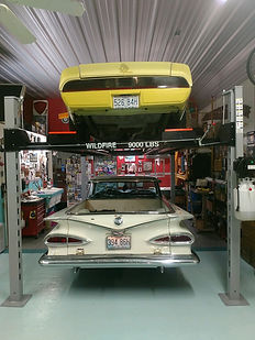 Two Classic Cars Four Post Car Lift.jpg