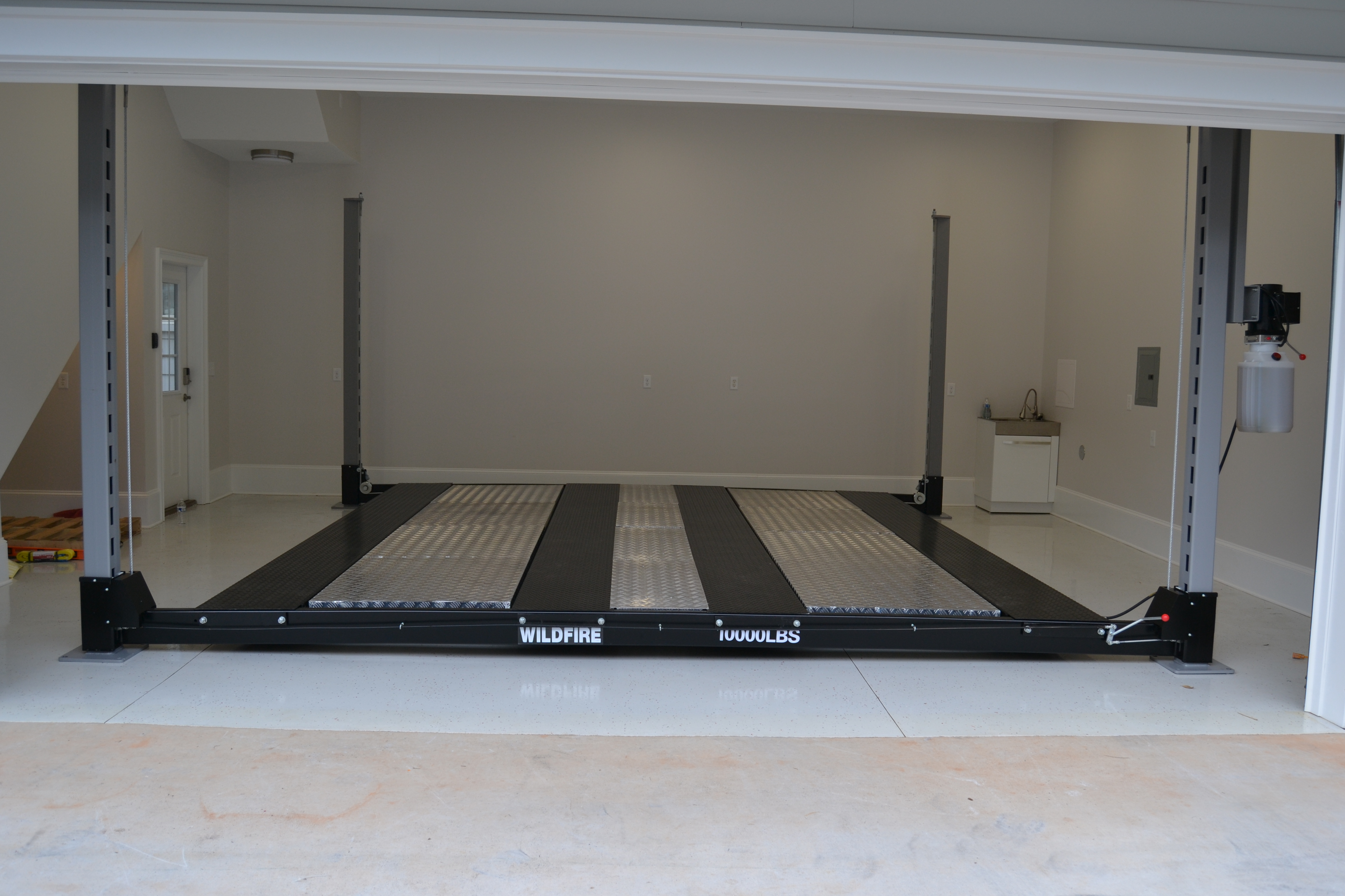 Full Aluminum Insert Option - Wildfire Lifts Double Wide Car Lift