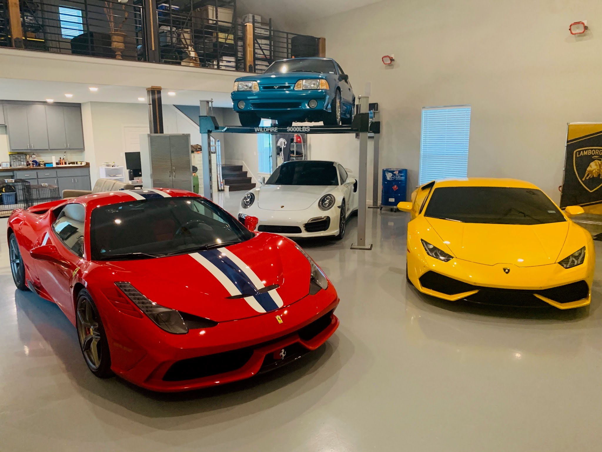 Exotic Cars with Wildfire Lifts WF9000