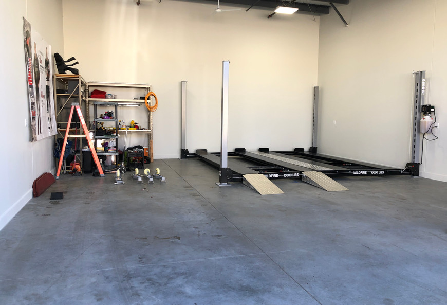 Double Wide Car Lift in Garage Condo.jpg