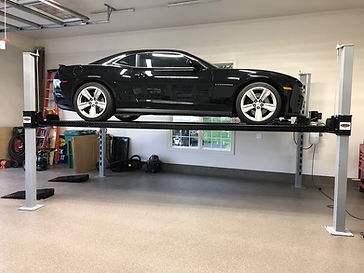 Camaro on Wildfire XLT 4 Post Car Lift.j