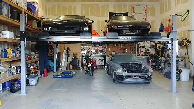 Double Wide Car Lift - Side by Side car