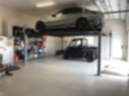 Double Wide Car Lift Residential Garage.