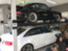Audi Porsche Wildfire 4 Post Car Lifts.j