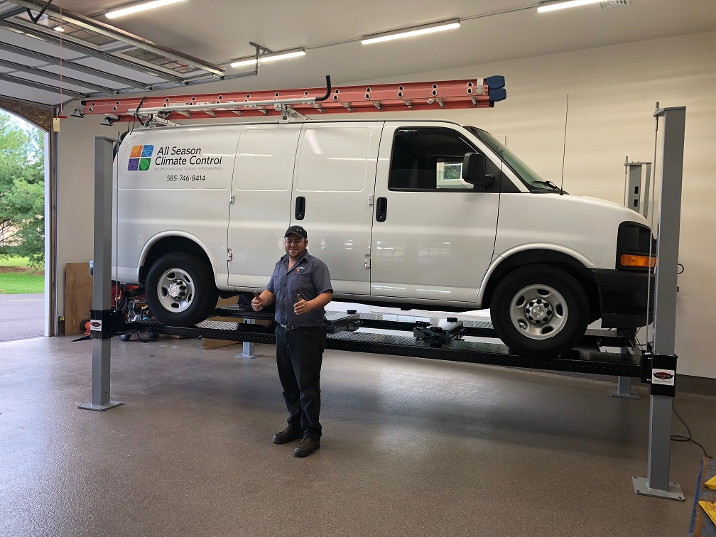 Workvan on Wildfire XLT 4 Post Car Lift.