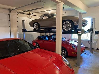 C2 Corvette and Porsche Speedster on Car