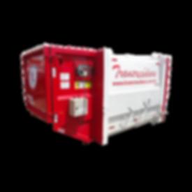Compactainer - coletor compactador estacionário para resíduos orgânicos ou industriais